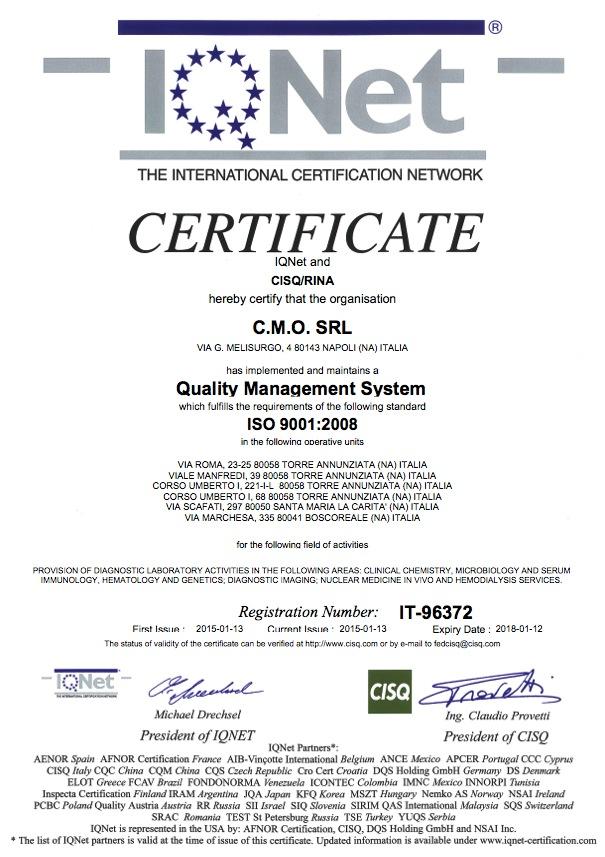 Certificazioni di qualit cmo centro medico Centro convenienza arredi torre annunziata torre annunziata na